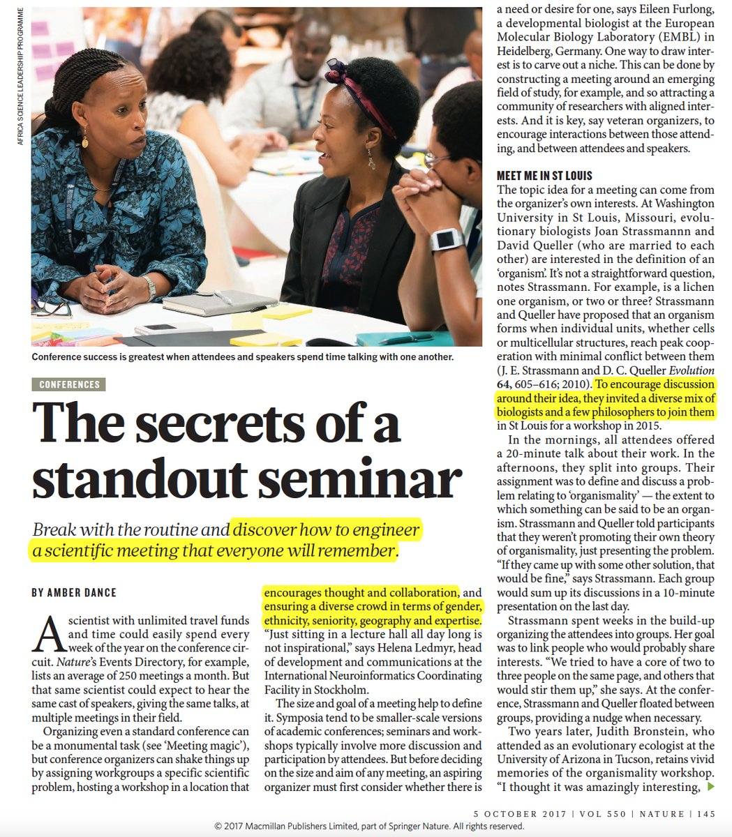 Nature - the secrets of a standout seminar